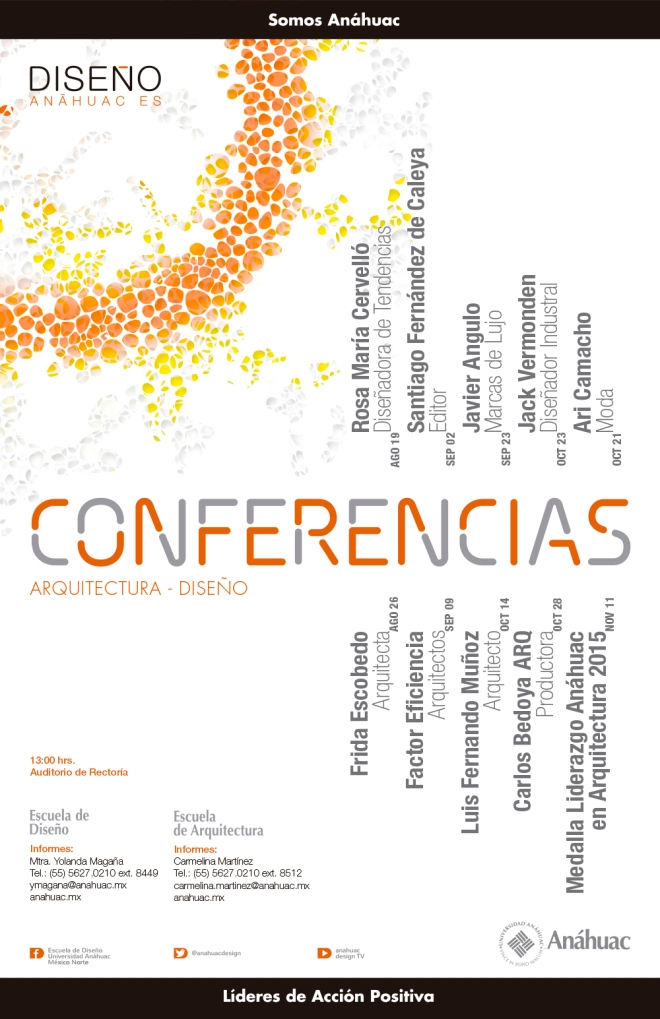 Ciclo de Conferencia Escuela de Diseño / Anáhuac