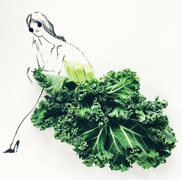 Fashion Design with food